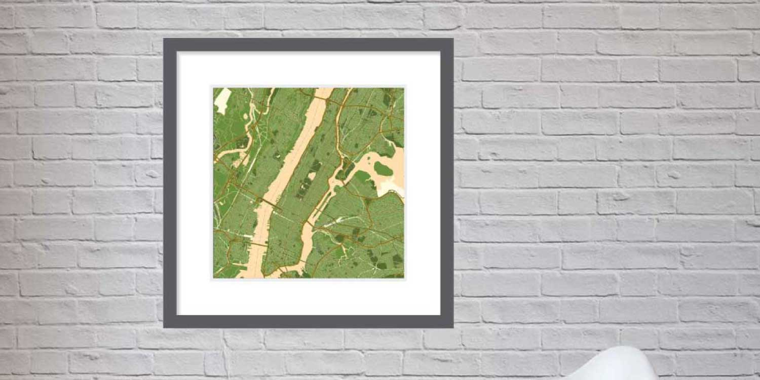 new-york high quality map prints