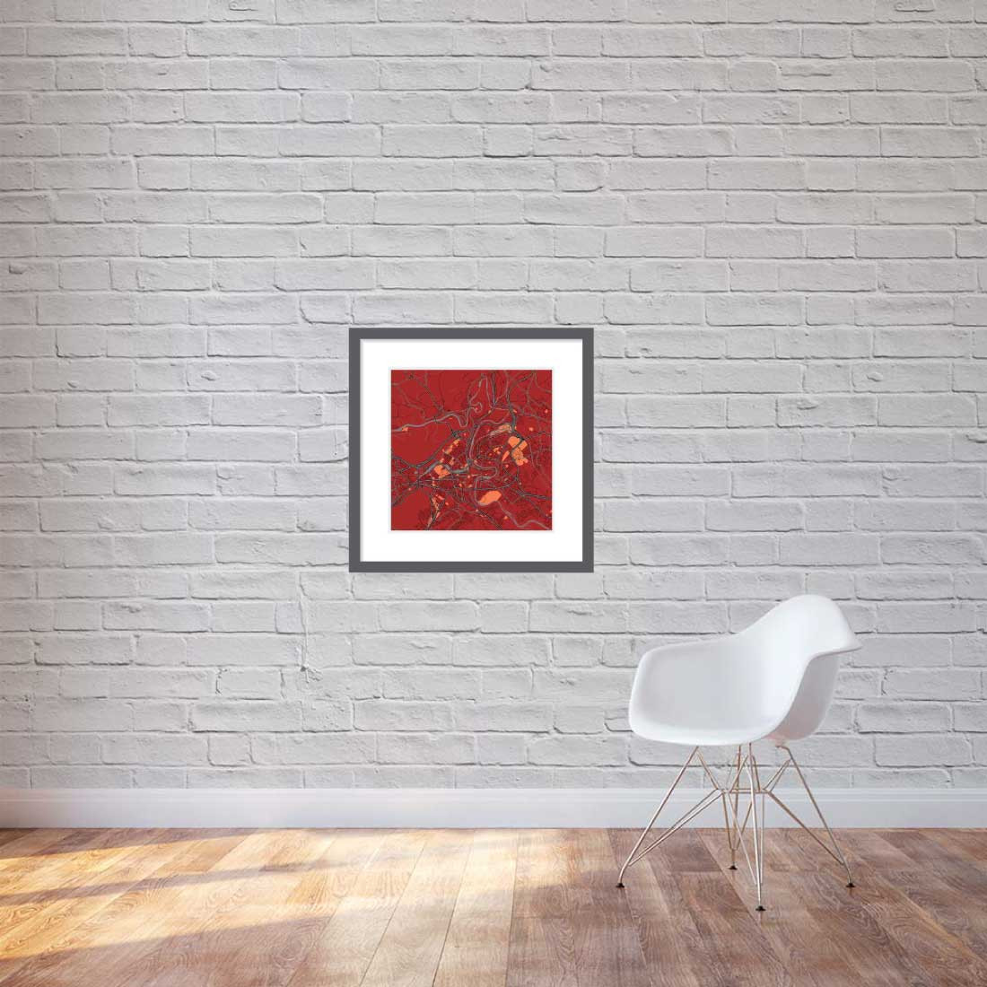 Matt print 60cmx60cm Bern Stylish Brick