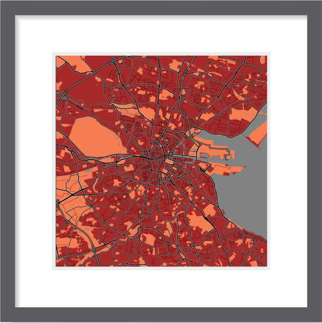 Matt print 30cmx30cm Dublin Stylish Brick