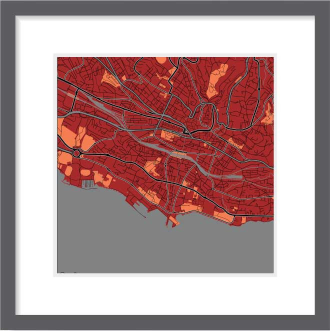 Matt print 30cmx30cm Lausanne Stylish Brick