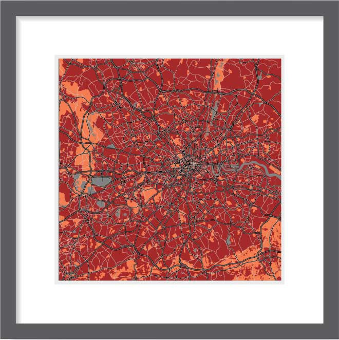 Matt print 30cmx30cm London Stylish Brick