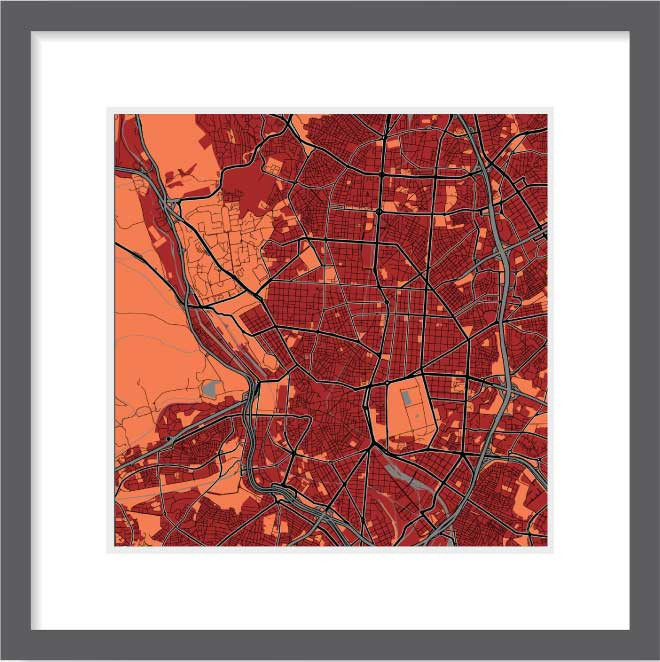 Matt print 30cmx30cm Madrid Stylish Brick