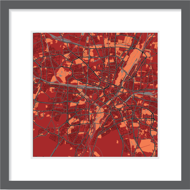 Matt print 30cmx30cm Munich Stylish Brick