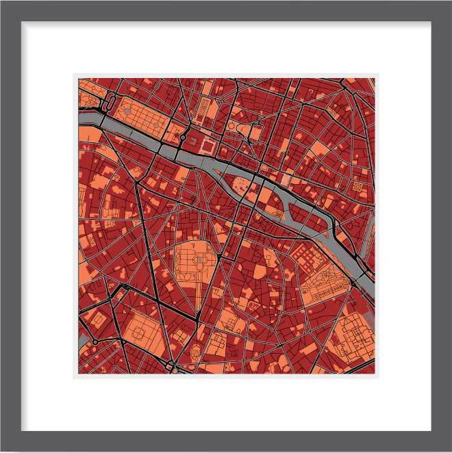 Matt print 30cmx30cm Paris Stylish Brick