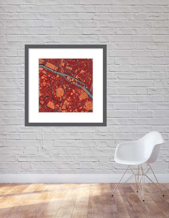 Matt print 90cmx90cm Paris Stylish Brick