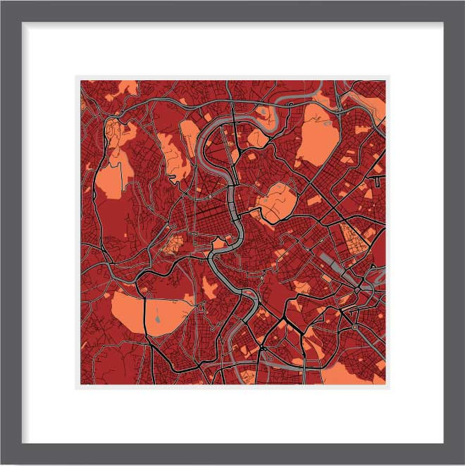 Matt print 30cmx30cm Rome Stylish Brick