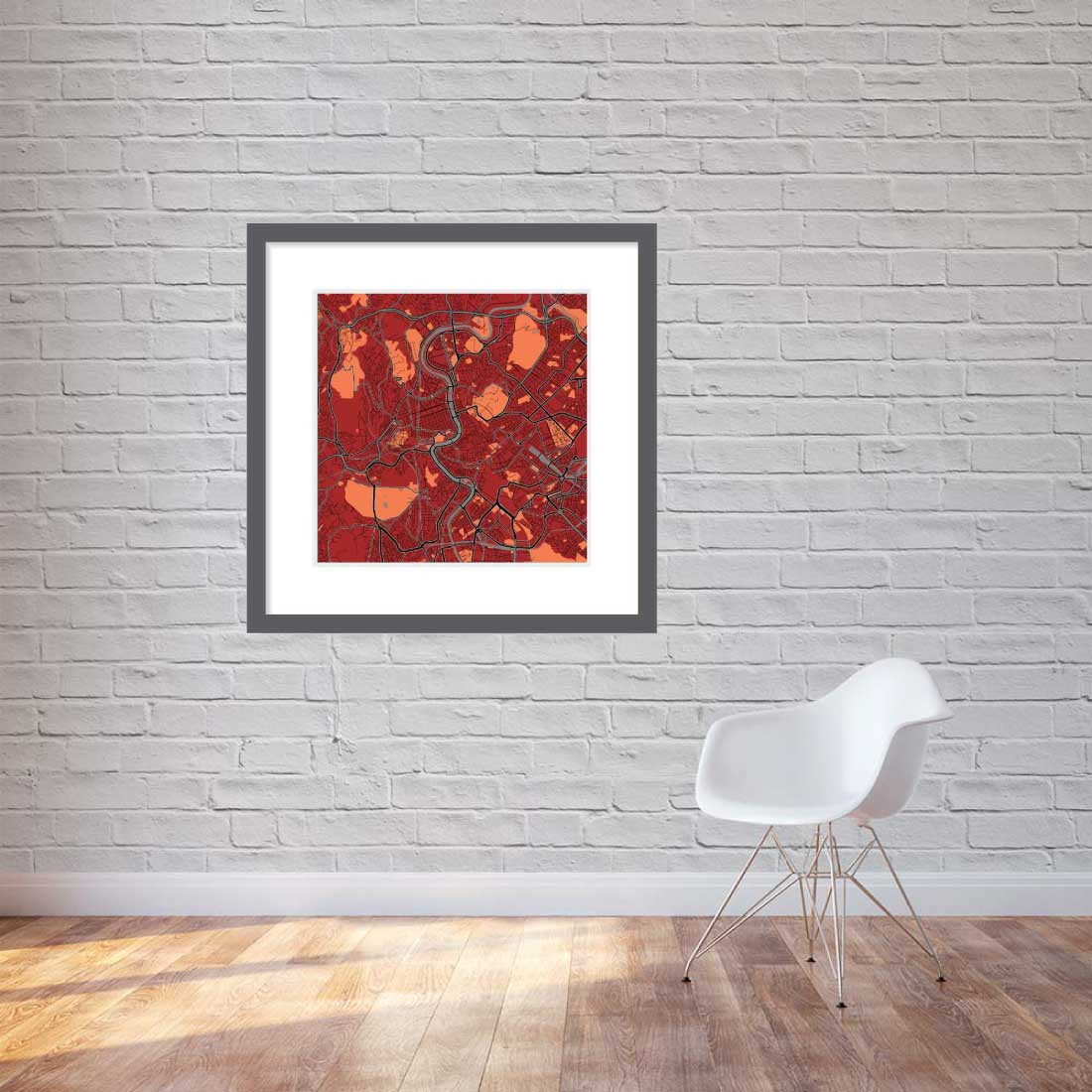 Matt print 90cmx90cm Rome Stylish Brick