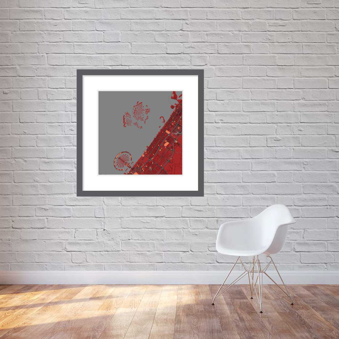 Matt print 90cmx90cm Dubai Stylish Brick