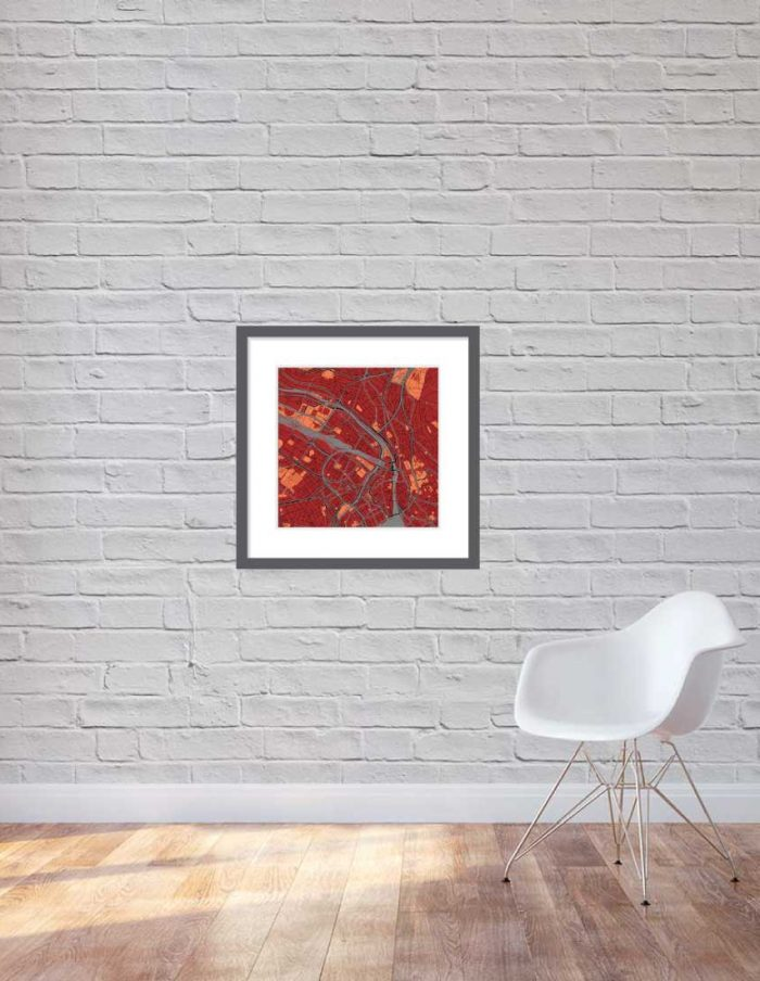 Matt print 60cmx60cm Zurich Stylish Brick