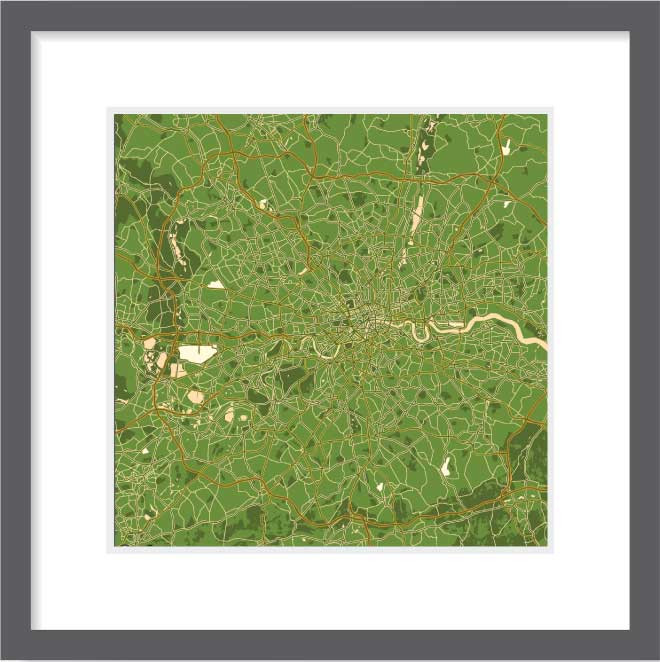 Matt print 30cm x 30cm London Olive