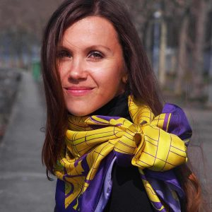 "Amsterdam Scarf ""Yellow Tulips"""
