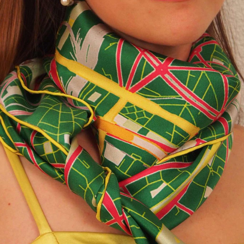 "Paris Scarf ""Green Streets"""