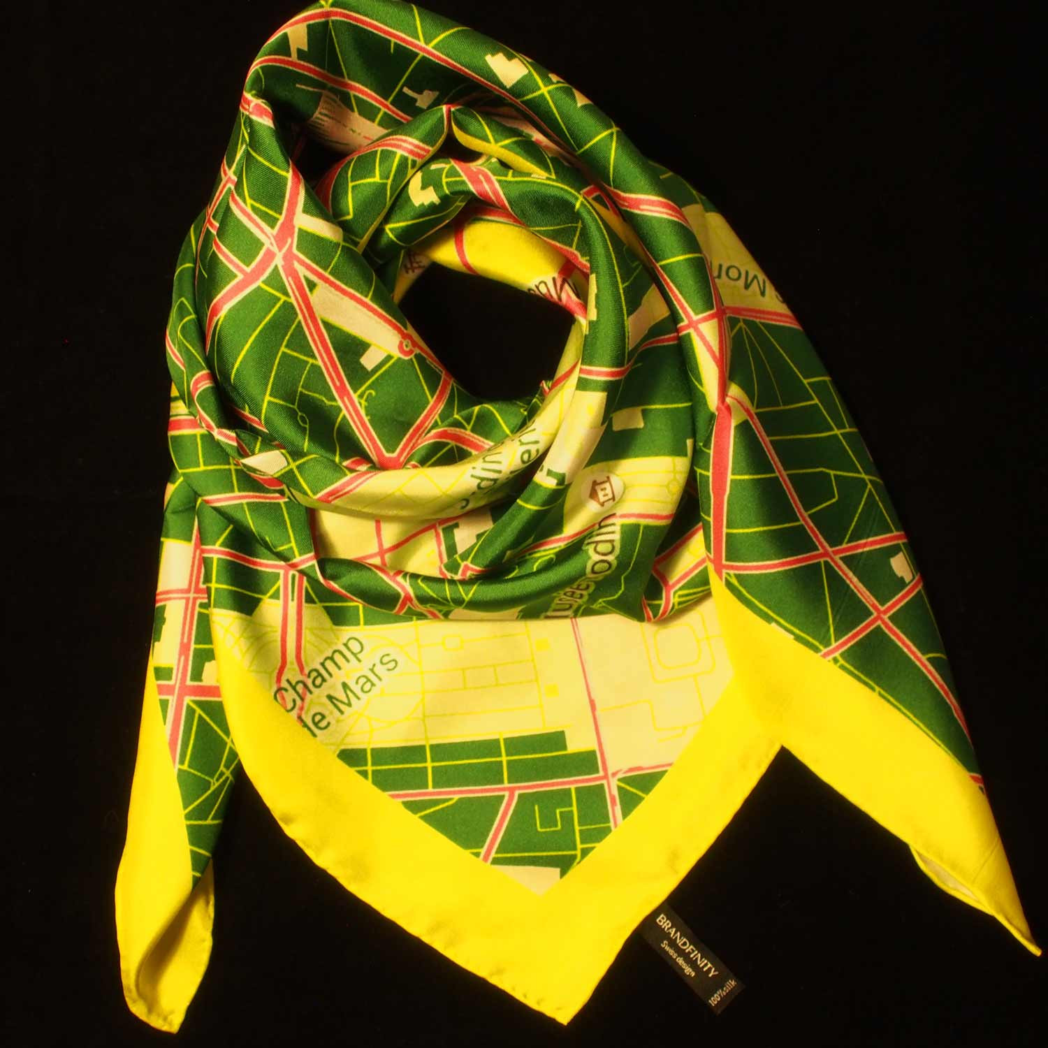 "Paris Scarf ""Green Labyrinth"""