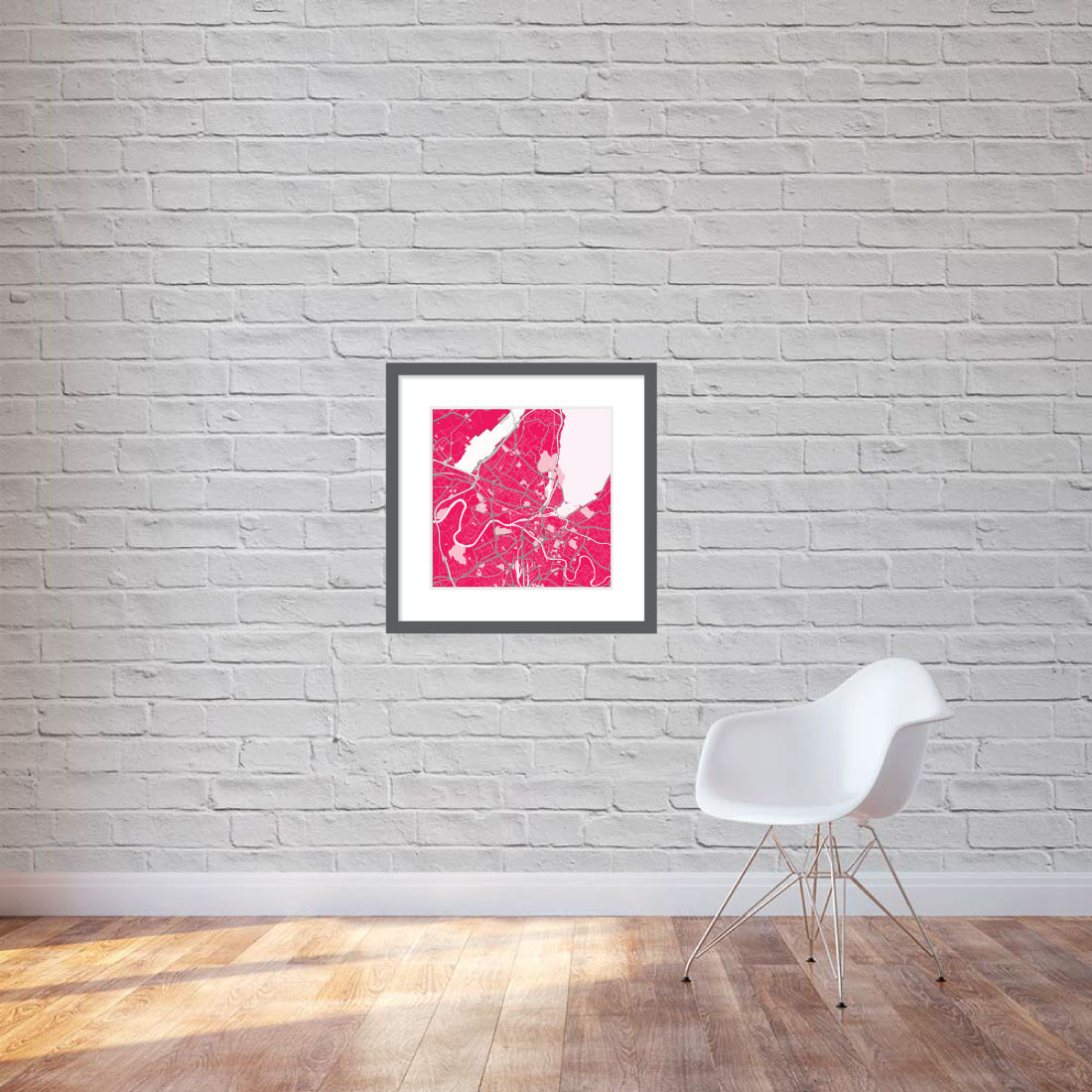 Matt print 60cm x 60cm Geneva strawberry milk