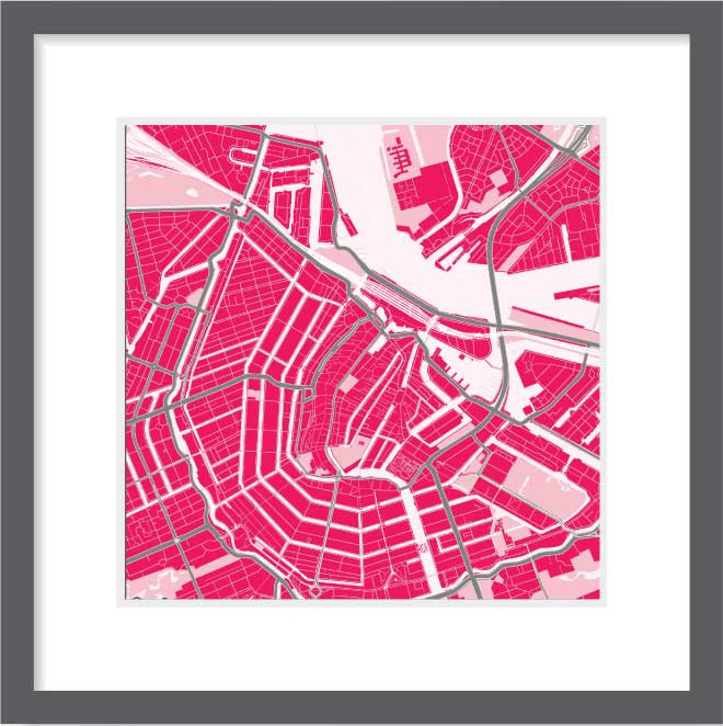 Matt print 30cm x 30cm Amsterdam Strawberry Milk