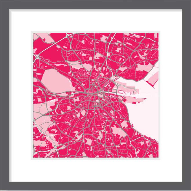 Matt print 30cm x 30cm Dublin Strawberry Milk