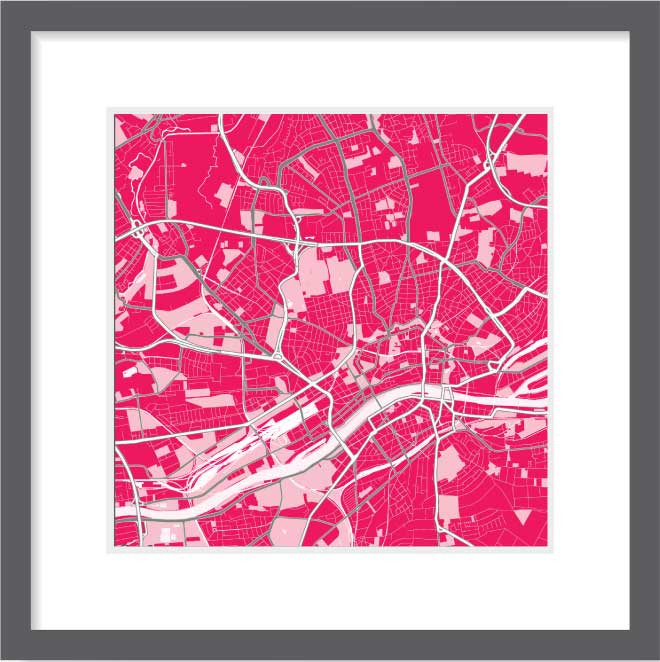 Matt print 30cm x 30cm Frankfurt Strawberry Milk