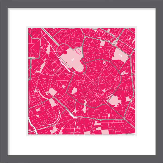 Matt print 30cm x 30cm Milan Strawberry Milk