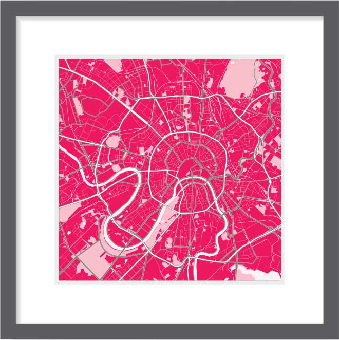 Matt print 30cm x 30cm Moscow Strawberry Milk