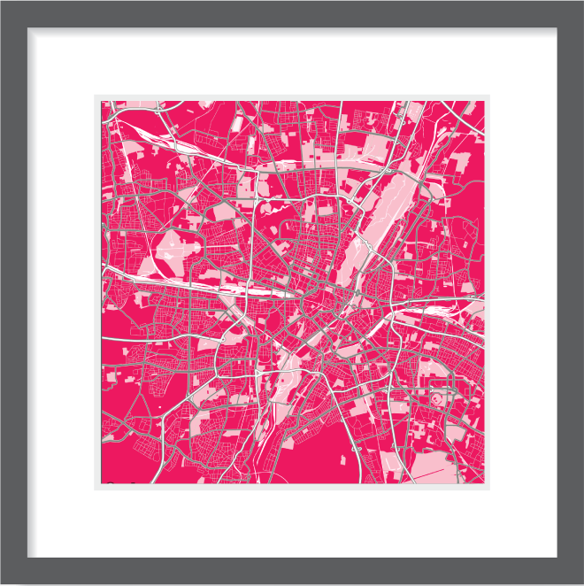 Matt print 30cm x 30cm Munich Strawberry Milk