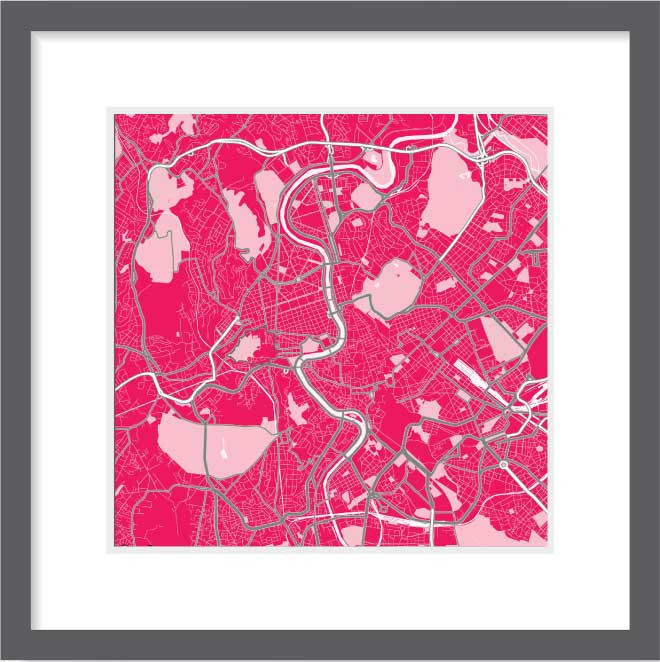 Matt print 30cm x 30cm Rome Strawberry Milk