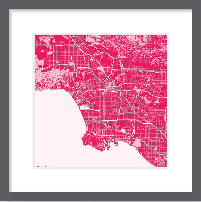 Matt print 30cm x 30cm Los Angeles Strawberry Milk