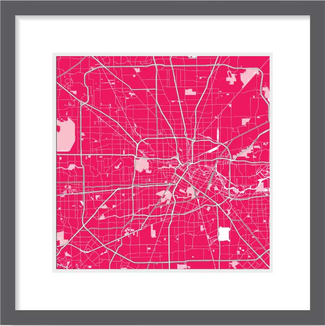 Matt print 30cm x 30cm Houston Strawberry Milk