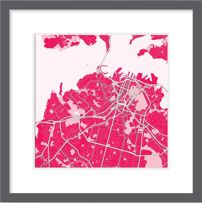 Matt print 30cm x 30cm Auckland Strawberry Milk