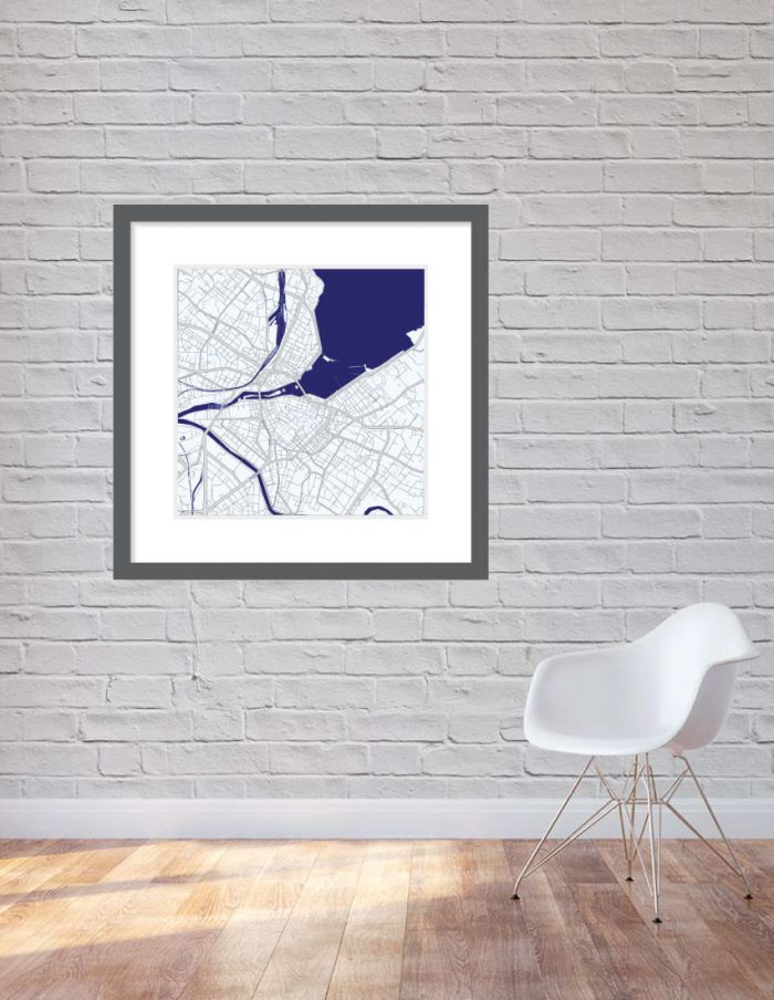 Matt print 90cm x 90cm Geneva Night Blue