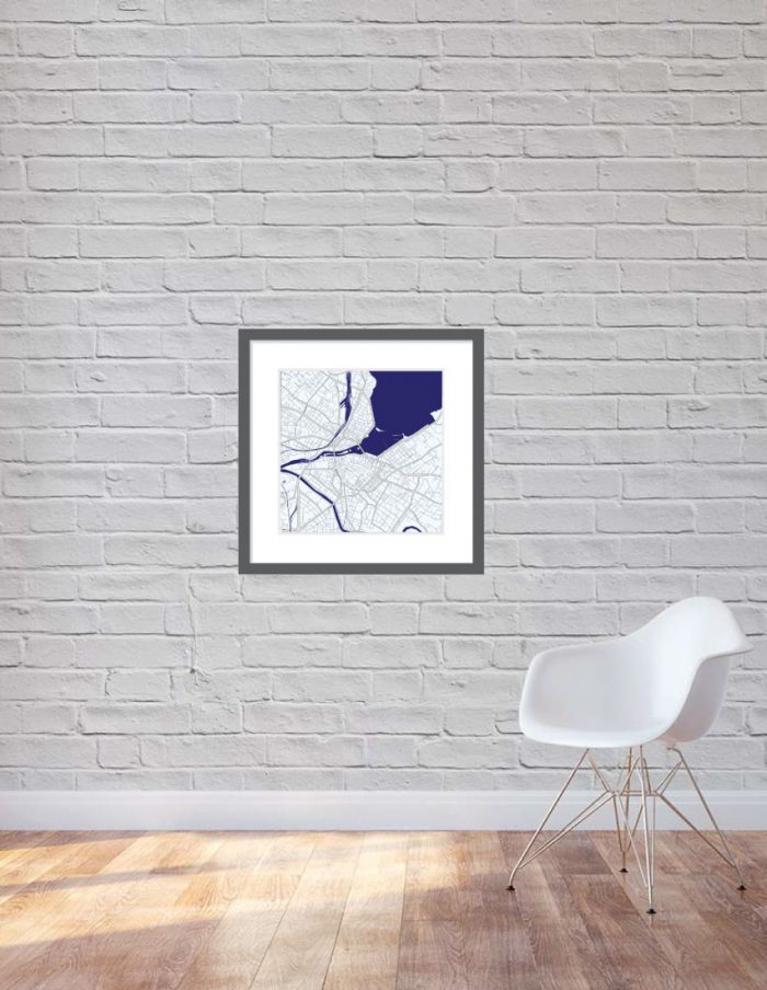 Matt print 60cm x 60cm Geneva Night Blue
