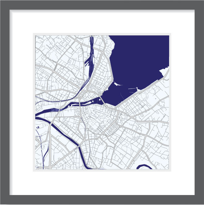 Matt print 30cm x 30cm Geneva Night Blue
