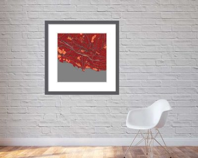 Matt print 90cm x 90cm Lausanne Stylish Red Brick