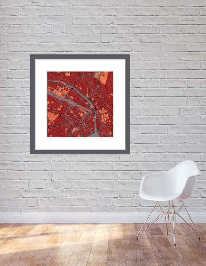 Matt print 90cm x 90cm Zurich Stylish Red Brick