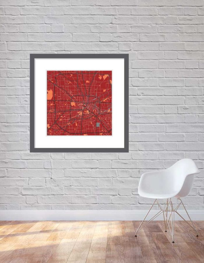 Matt print 90cmx90cm Houston Stylish Brick