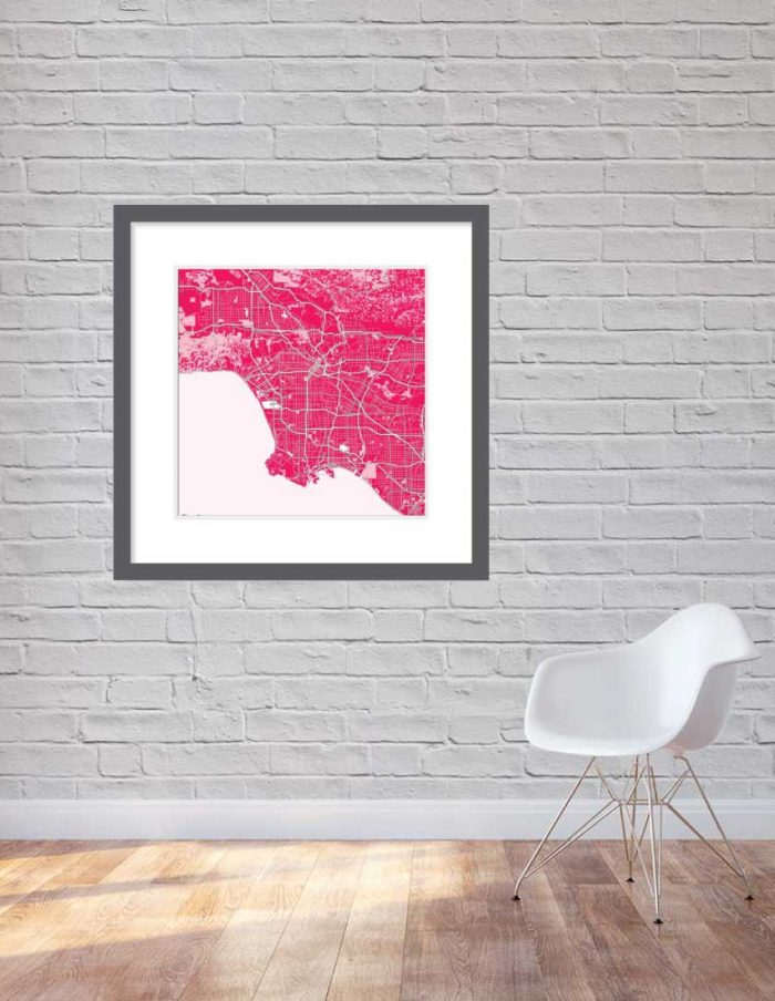 Matt print 90cmx90cm Los Angeles Strawberry Milk