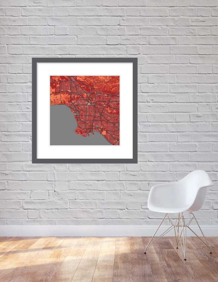 Matt print 90cmx90cm Los Angeles Stylish Brick