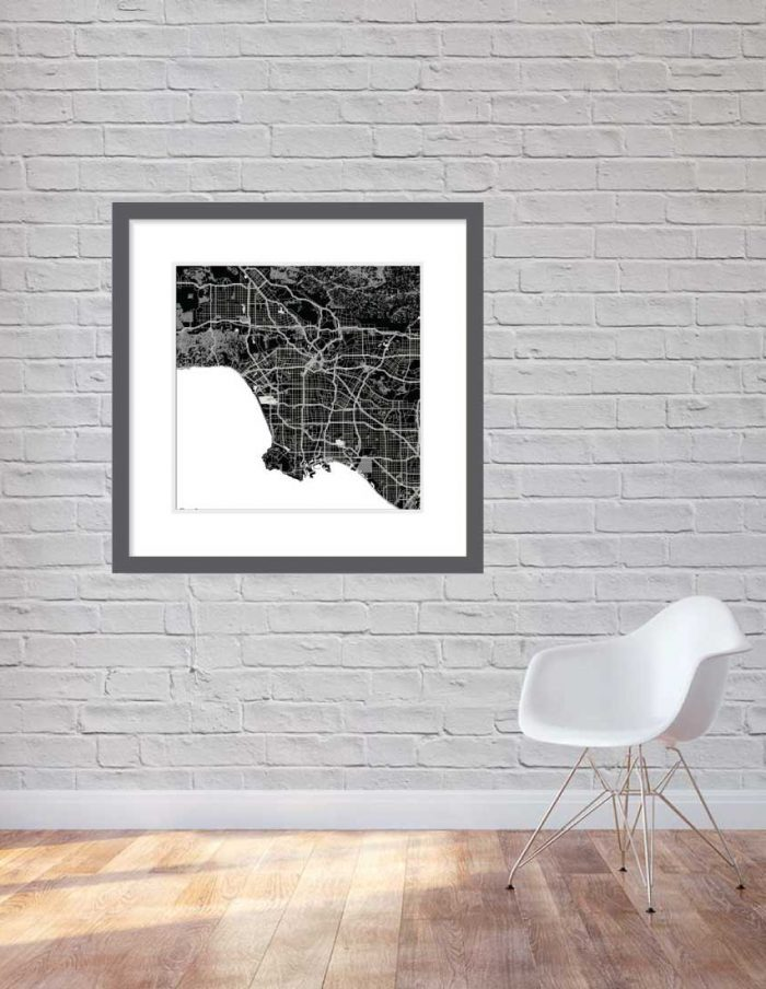 Matt print 90cmx90cm Los Angeles Night