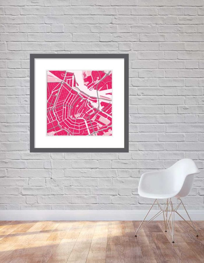 Matt print 90cmx90cm Amsterdam Strawberry Milk