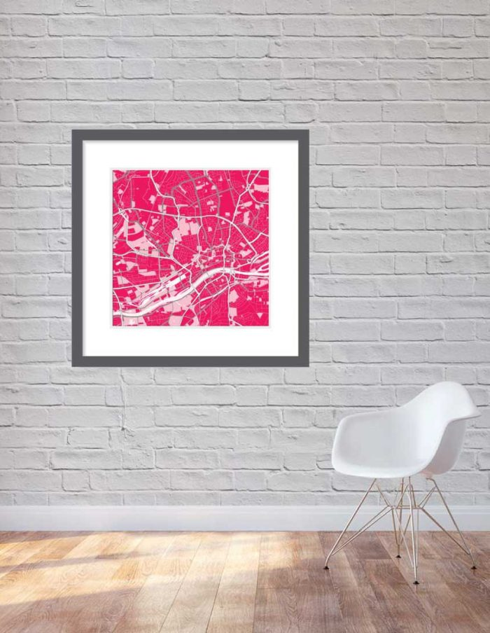 Matt print 90cmx90cm Frankfurt Strawberry Milk