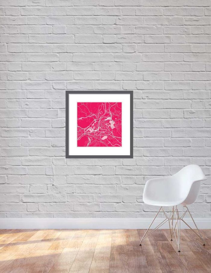Matt print 60cmx60cm Bern Strawberry Milk