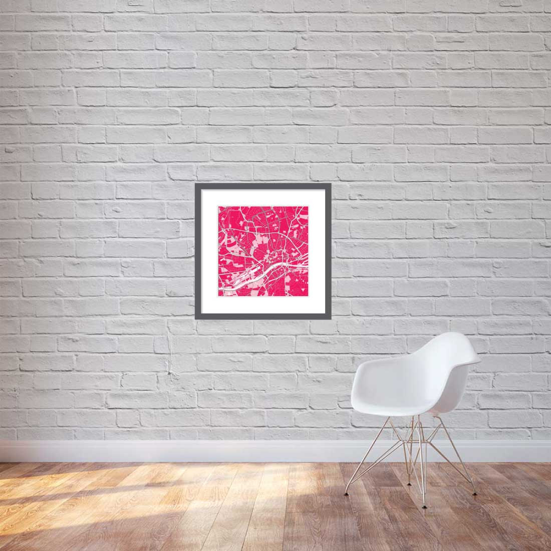 Matt print 60cmx60cm Frankfurt Strawberry Milk