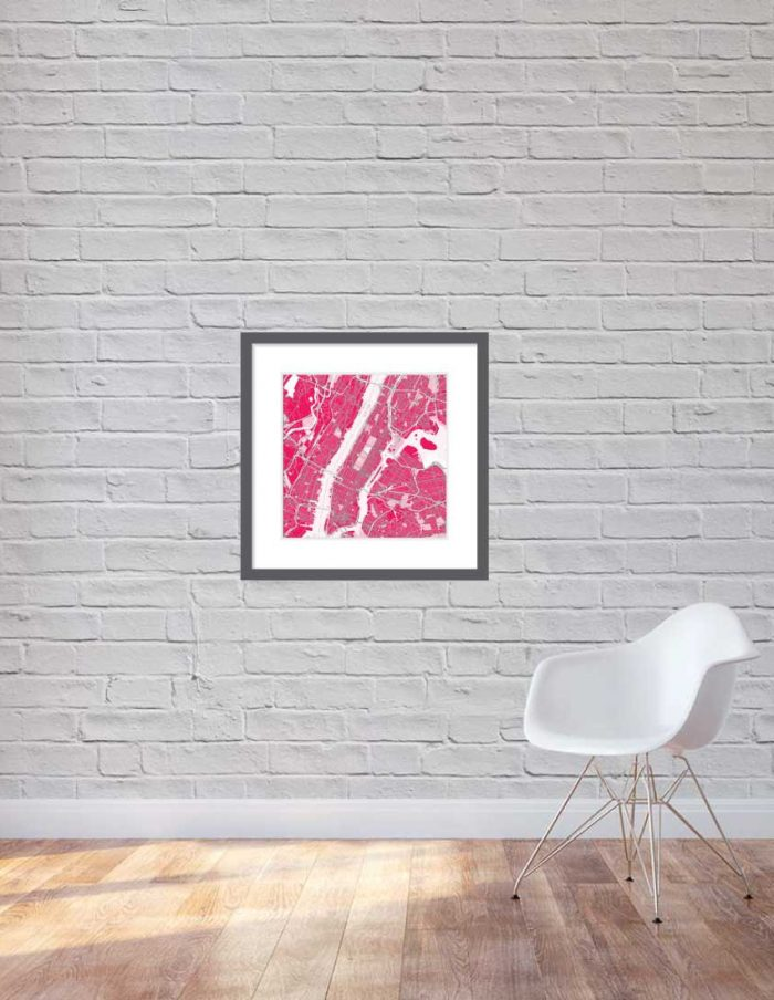 Matt print 60cmx60cm New-York Strawberry Milk