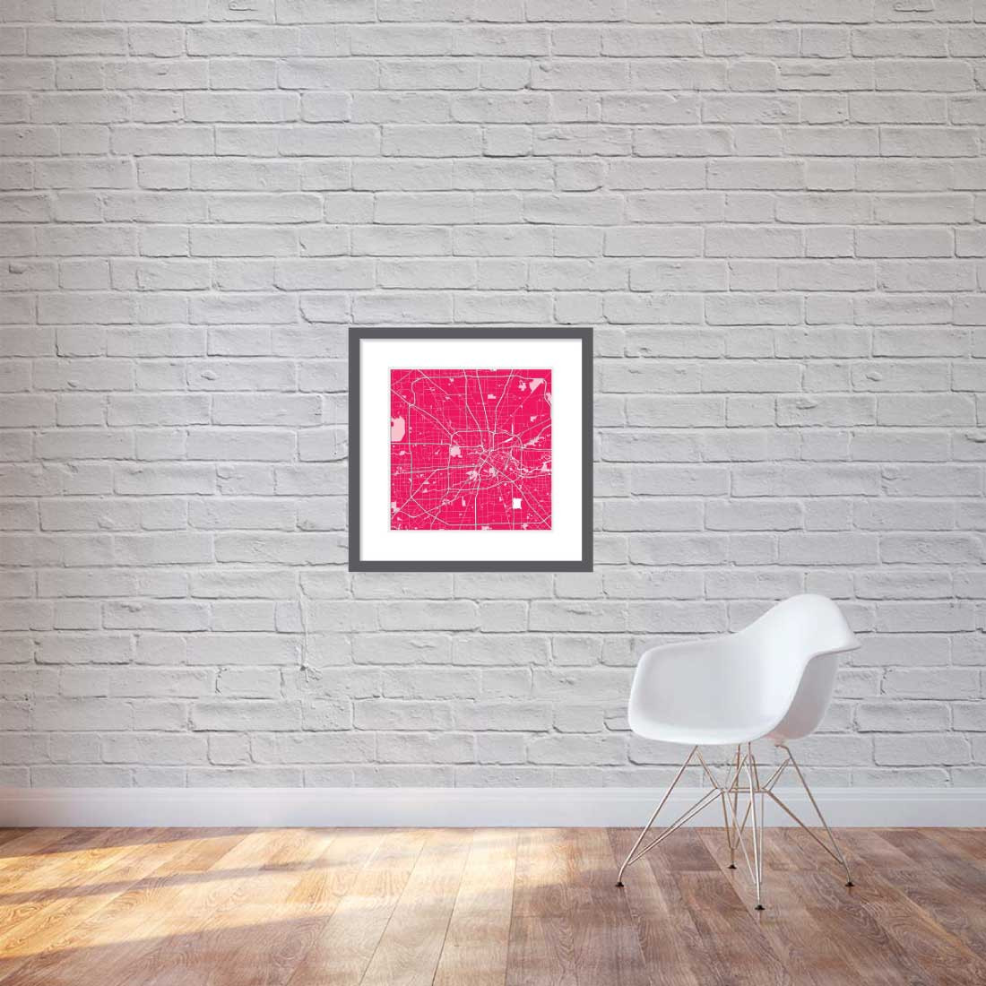 Matt print 60cmx60cm Houston Strawberry Milk