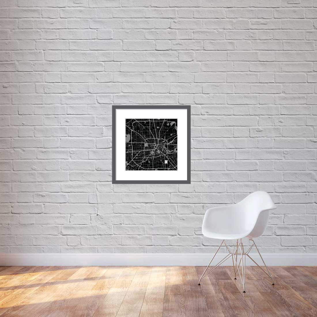 Matt print 60cm x 60cm Houston Night