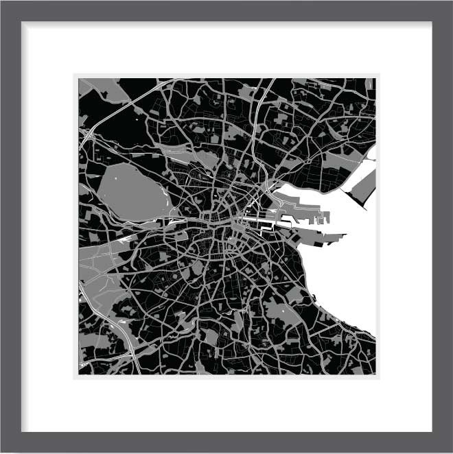 Matt print 30cm x 30cm Dublin Night
