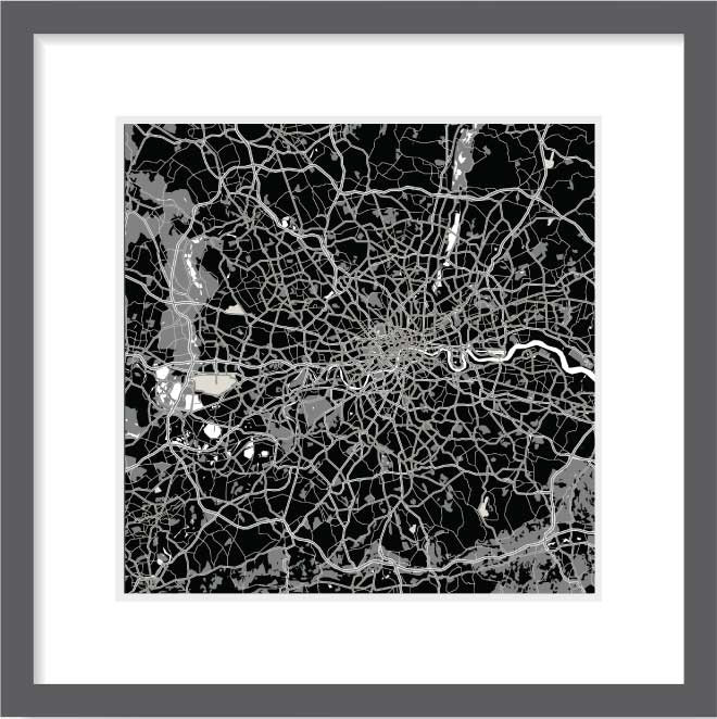 Matt print 30cm x 30cm London Night