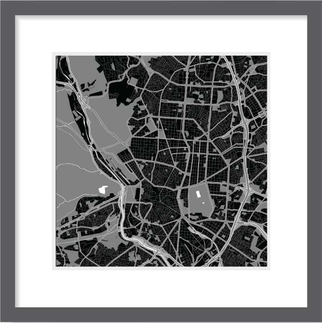 Matt print 30cm x 30cm madrid night