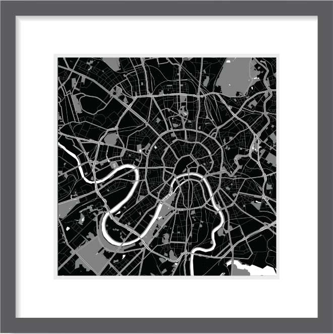 Matt print 30cm x 30cm moscow night