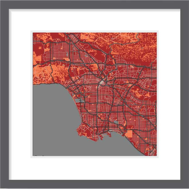 Matt print 30cmx30cm Los-Angeles Stylish Brick