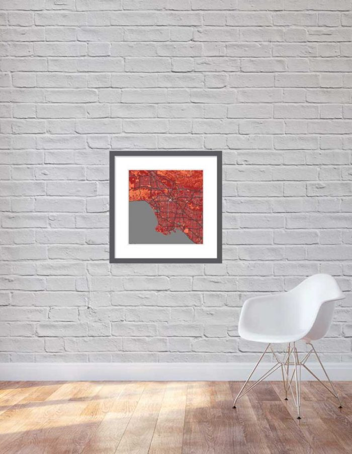 Matt print 60cmx60cm Los-Angeles Stylish Brick